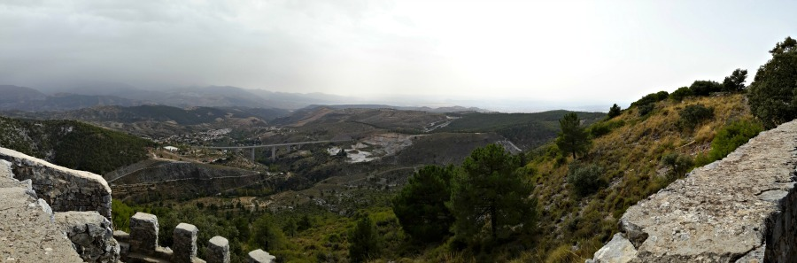 Views from the ruins of Spanish Civil War mountain trenches
