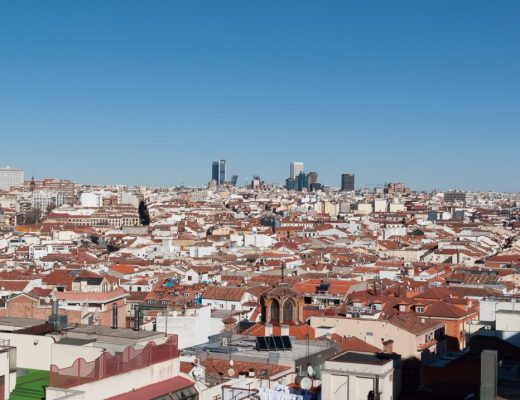 View of the skyline of madrid