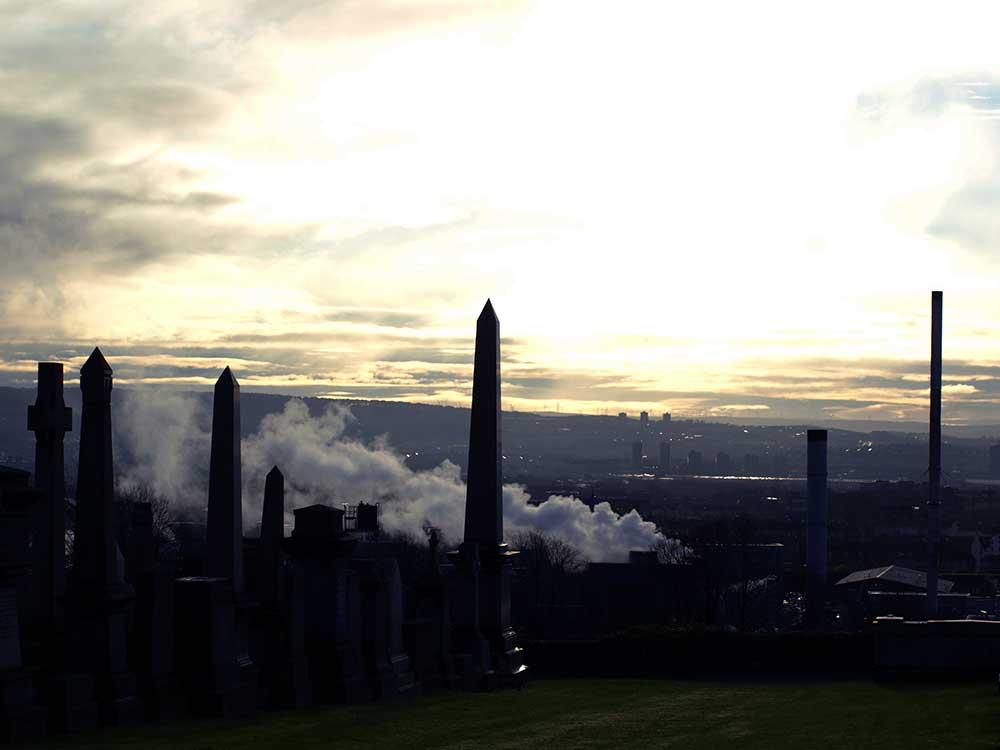 Glasgow's Skyline from the Necropolis via Wanderwings.com