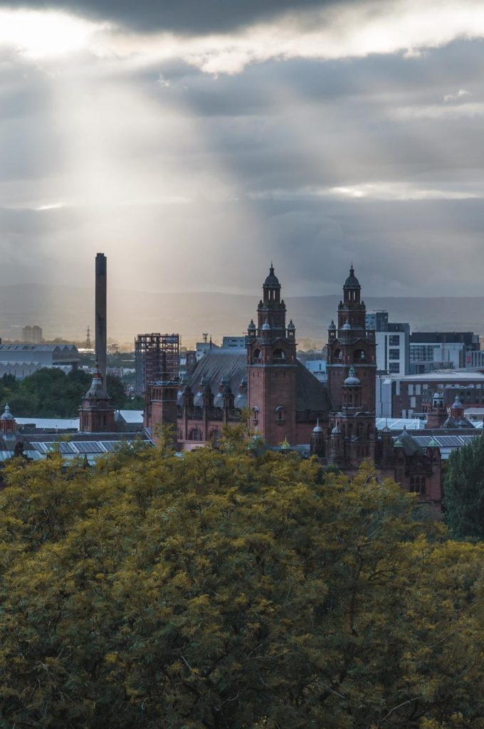 How to make the most of 48 Hours in Glasgow | Views from Glasgow Youth Hostel in the West End via wanderwings.com