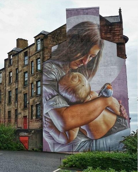 smugone mural in Glasgow | Wanderwings