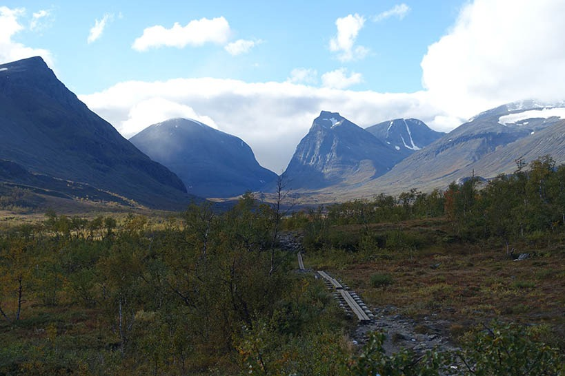 view of the mountians in northern Sweden