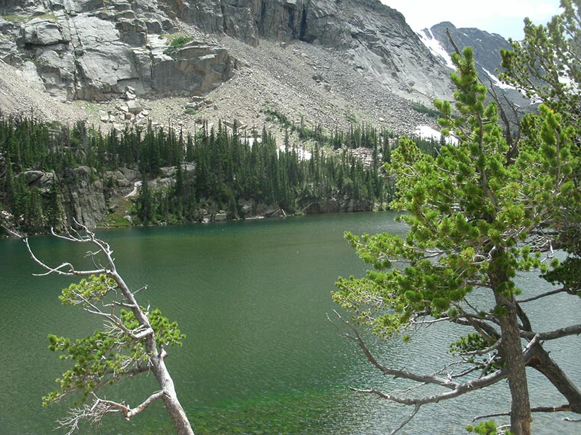 Loch in the heart of Rocky Mountain National Park in Colorado