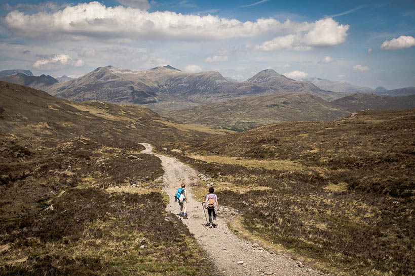 Two hikers on the West Highland Way just after the Devils Staircase by Kathi Kamleitner