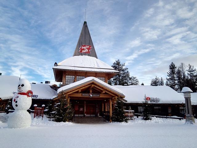 Santa's Village in the Snow