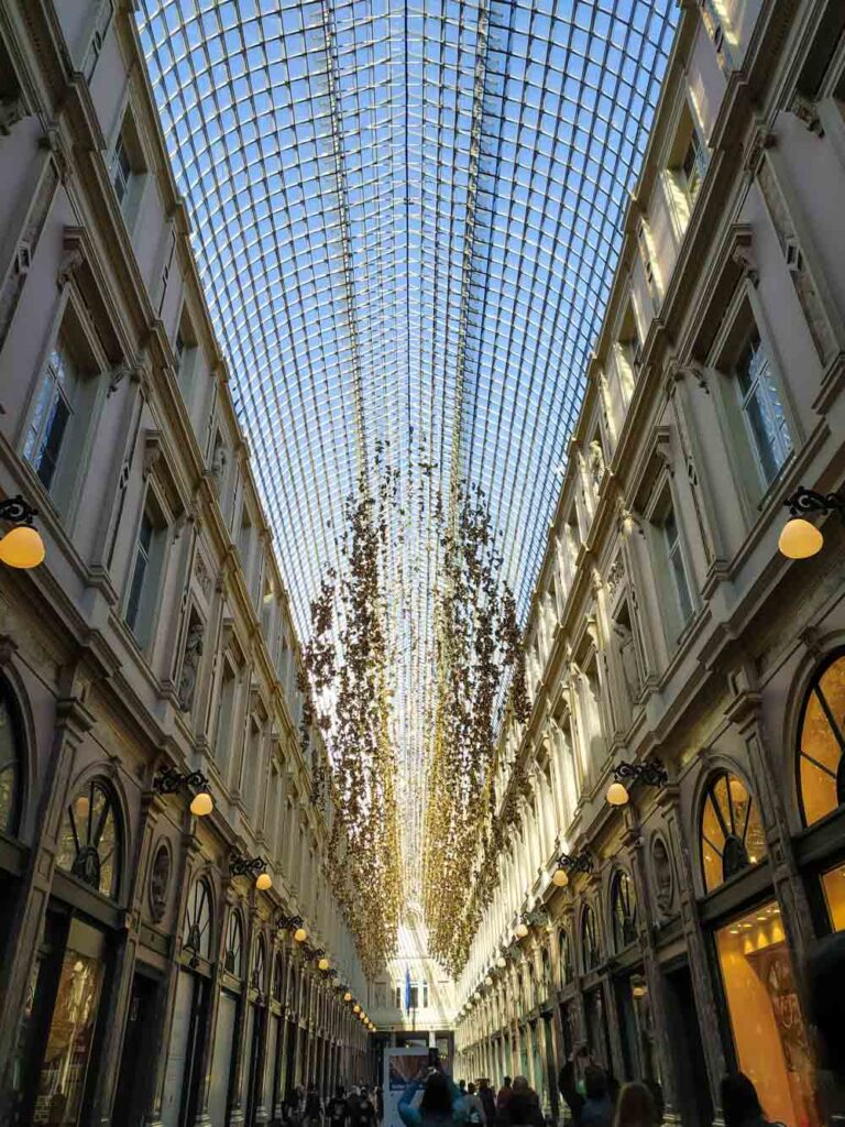 Luxurious shopping passage in Brussels, Belgium